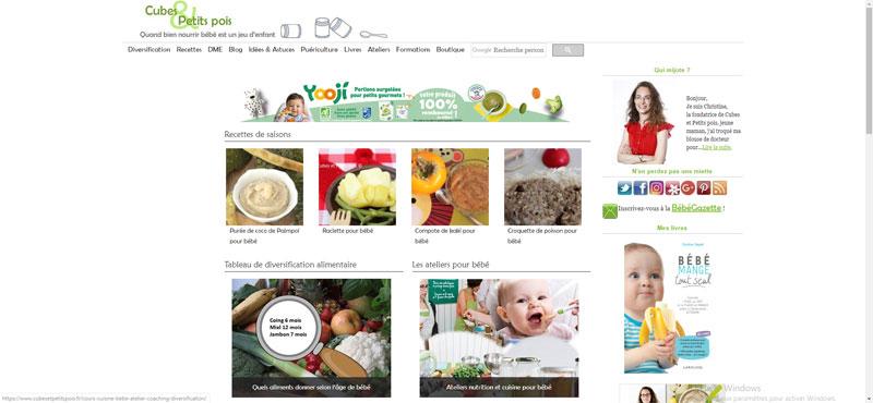 Cube et Petit Pois : diversification alimentaire et recettes bébé